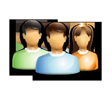 trzy postacie symbolizuące zespół tworzący strony internetowe