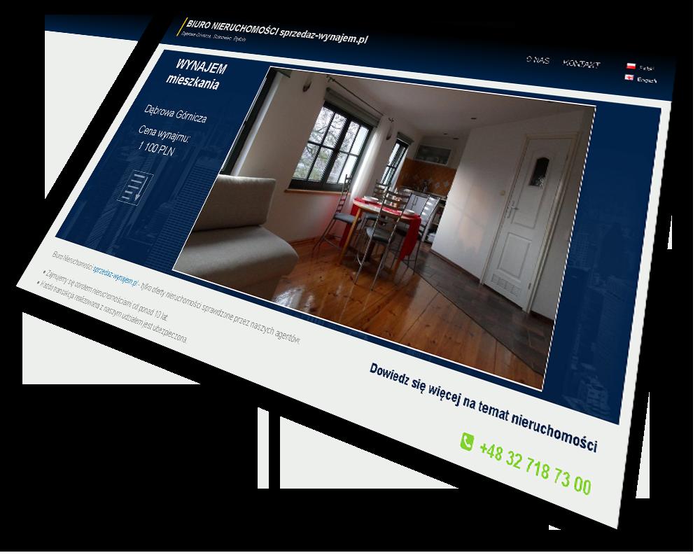 projektowanie stron internetowych biuro nieruchomości Dąbrowa Górnicza